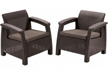 Keter Corfu Duo Garden Chair Set Brown