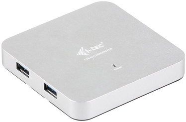 I-Tec USB 3.0 4 Port Metal Hub with Network Adapter