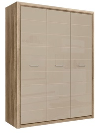 Гардероб Black Red White Koen 2 Oak/Grey Sand, 163.5x56.5x208 см