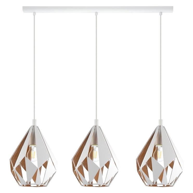 Gaismeklis Eglo Carlton 1 43002 3x60W E27 Ceiling Lamp White