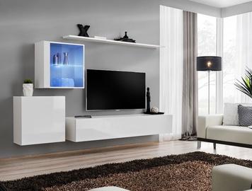 Dzīvojamās istabas mēbeļu komplekts ASM Switch XV White
