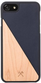 Woodcessories EcoSplit Back Case For Apple iPhone 7/8 Maple/Blue