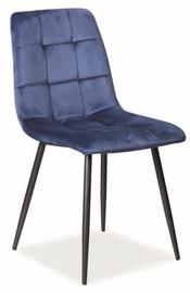 Ēdamistabas krēsls Signal Meble Mila Velvet Dark Blue, 1 gab.