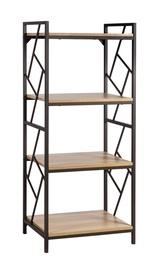 Полка Home4you Study, коричневый/дубовый, 60x40x139.5 см