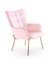 Кресло Halmar Castel 2, золотой/розовый, 71 см x 79 см x 97 см