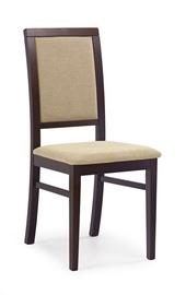 Ēdamistabas krēsls Halmar Sylwek 1 Dark Walnut/Torent Beige