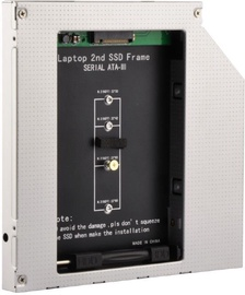 """Gembird 5.25"""" Slim Bay Mounting Frame for NGFF (M.2) SSD A-SATA12M2-01"""