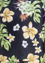 Home4you Sun Lounger Wicker 55x195x3cm Floral/Black
