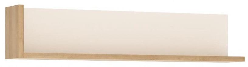 Meble Wojcik Lyon LYOP01 Hanging Shelf White/Riviera Light Oak