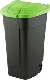 Atkritumu tvertne Curver Black/Green, 110 l