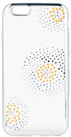 Beeyo Flower Dots Back Case For Samsung Galaxy J5 J530 Transparent/Silver