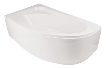 Besco Piramida Cornea Bath Left White 145x80x55cm