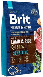 Сухой корм для собак Brit Premium by Nature Sensitive Lamb & Rice 15kg
