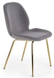 Ēdamistabas krēsls Halmar K381 Grey/Gold, 1 gab.