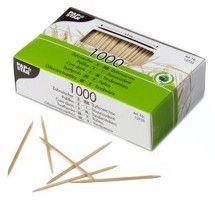 Iesmiņi un zobu bakstāmais Pap Star Wooden Toothpicks 6.8cm 1000pcs