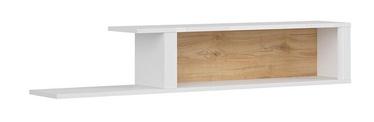 Black Red White Modesto Wall Shelf 150cm Oak/White