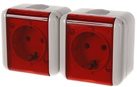 REML 229217400 Double Socket Red