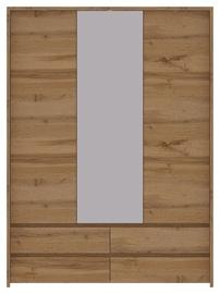 Гардероб WIPMEB Tahoe TA-22 Wotan Oak, 153.5x56x210 см, с зеркалом