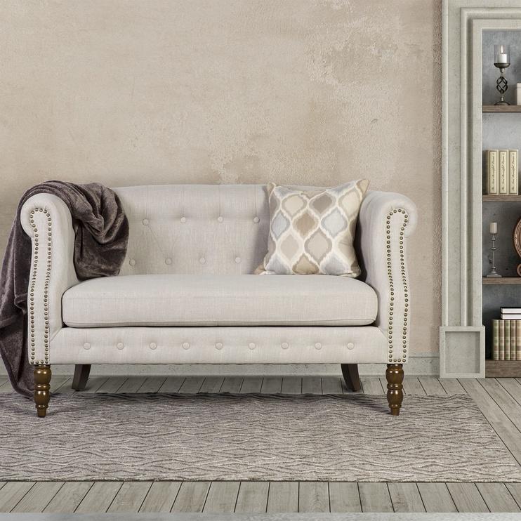 Dīvāns Home4you Holmes 2 20184 Beige, 140 x 75 x 78 cm