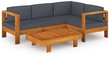 Āra mēbeļu komplekts VLX 5 Piece Garden Lounge Set 3057951, pelēks/brūns, 4 sēdvietas