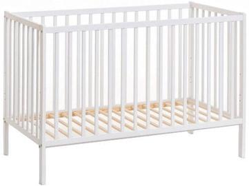 Bērnu gulta ASM Cypi II White, 65x124 cm