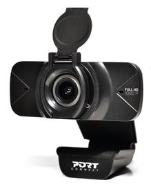 Web kamera Port Designs, melna, 1080p