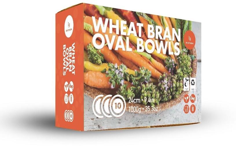 Šķīvs Biotrem Biodegradable Wheat Bran Plate 24cm 10pcs