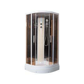Dušas kabīne Erlit ER5709P-C25, masāžas, pusapaļā, 900x900x2150 mm
