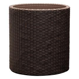 Keter Large Cylinder Planter Brown