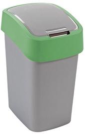 Мусорное ведро Curver FlipBin Silver/Green, 25 л