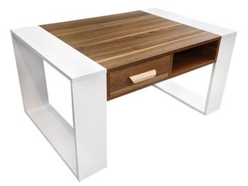 Kafijas galdiņš GoodHome Modern White/Brown, 900x600x450 mm