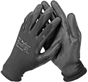 Art.Master Nylon Gloves With PU Black 6 12pcs