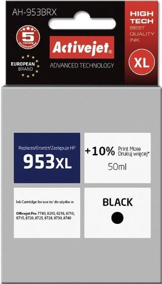 ActiveJet Cartridge AH-953BRX For HP 50ml Black