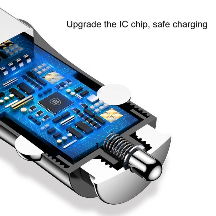 Baseus Gentleman Dual USB Car Charger 4.8A Black
