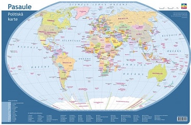 Jāņa Sēta Desk Pad Political Map World
