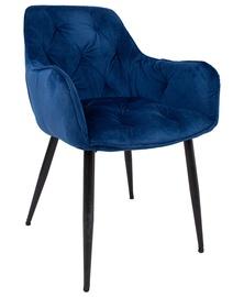 Ēdamistabas krēsls Home4you Brita, zila/melna