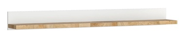 Black Red White Alameda Wall Shelf White/Oak