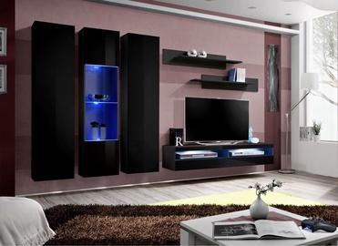 ASM Fly P15 Living Room Wall Unit Set Black