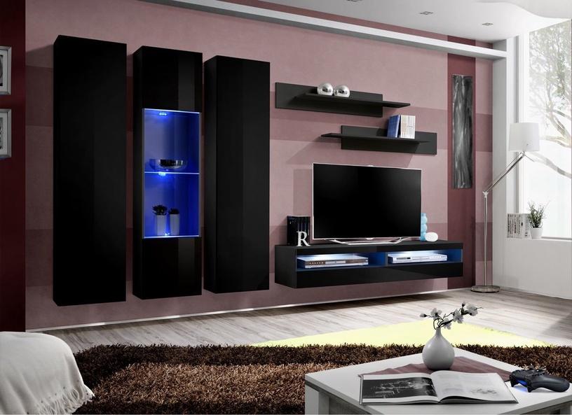 Dzīvojamās istabas mēbeļu komplekts ASM Fly P15 Black
