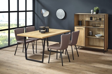 Halmar Table Ulrich Golden Oak/Black