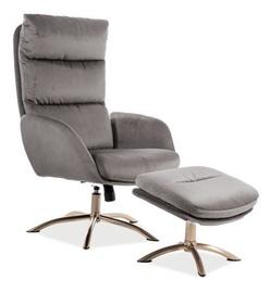 Atzveltnes krēsls Signal Meble Monroe Grey, 68x73x110 cm