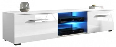 Vivaldi Meble Moon TV Stand With LED White/White Gloss