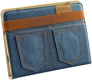 Blun Universal Jeans Book Case with Stand 7'' Blue