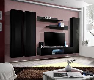 ASM Fly P1 Living Room Wall Unit Set Black