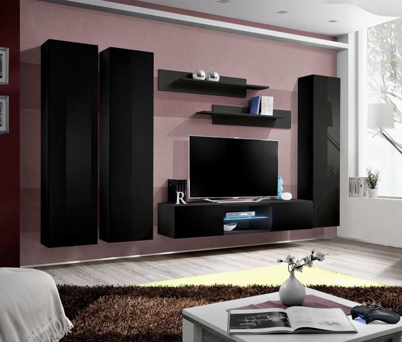 Dzīvojamās istabas mēbeļu komplekts ASM Fly P1 Black