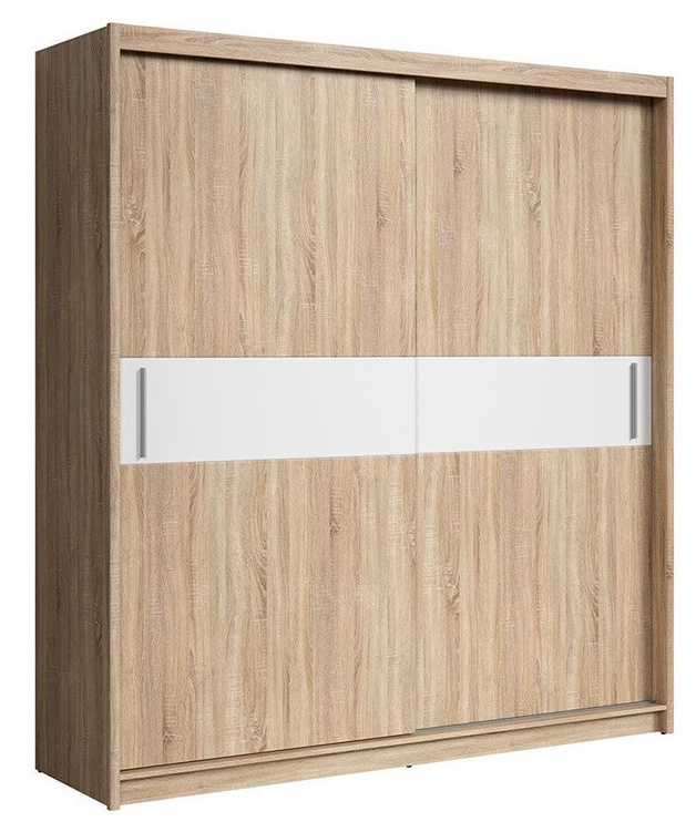 Skapis Black Red White Hana Sonoma Oak/White, 203x60.5x218.5 cm