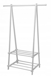 GoodHome Coat Rack With Two Shelves White
