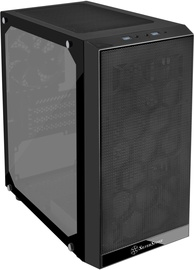 SilverStone SST-PS15B-G Precision Mini Tower Micro ATX Tempered Glass Black