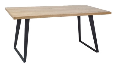 Обеденный стол Signal Meble Falcon Oak/Black, 1500x900x770 мм