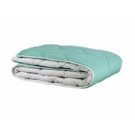 Пуховое одеяло Comco Cotton, 220 см x 200 см, белый/зеленый